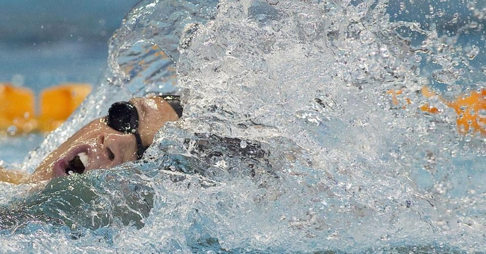 Thiago Pereira compete na etapa de Cingapura da Copa do Mundo em piscina curta