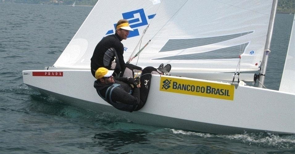 Robert Scheidt e Bruno Prada treinam para o Mundial de 2010
