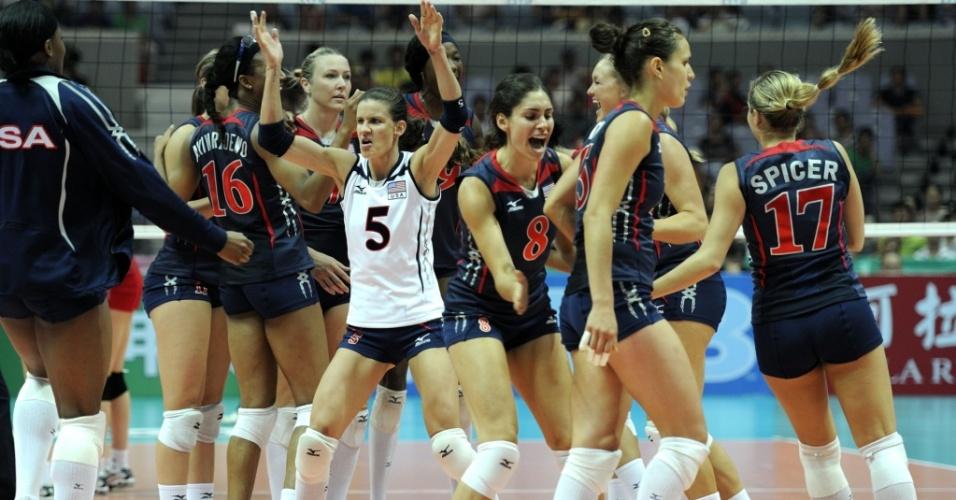 EUA festejam seu terceiro título no Grand Prix, com vitória sobre o Japão