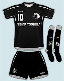 103cb2c51db31 Santos prepara terceiro uniforme nas cores preto e prata - 21 10 ...